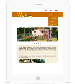 sito internet casa vacanze tablet