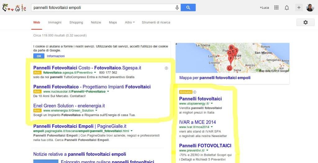campagne adwords Empoli