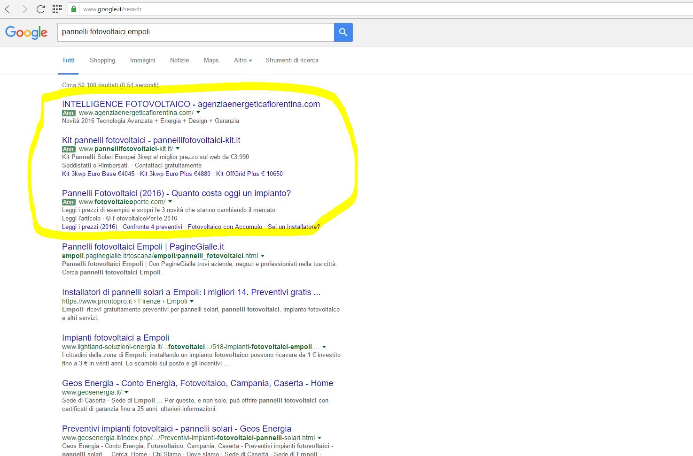 campagne adwords google empoli